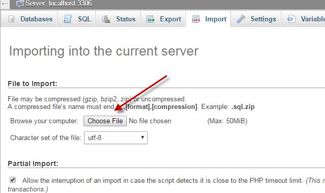 كيفية رفع قاعده بيانات جديدة (Cpanel) 3