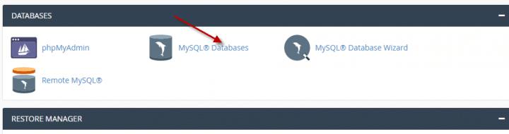 كيفية انشاء او حذف اسم مستخدم لقاعده البيانات (Cpanel) 1