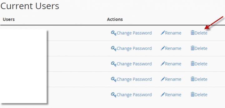 كيفية انشاء او حذف اسم مستخدم لقاعده البيانات (Cpanel) 3