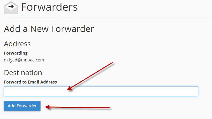 كيفية تحويل رسائل البريد الألكترونى لبريد ألكترونى اخر (Cpanel) 4