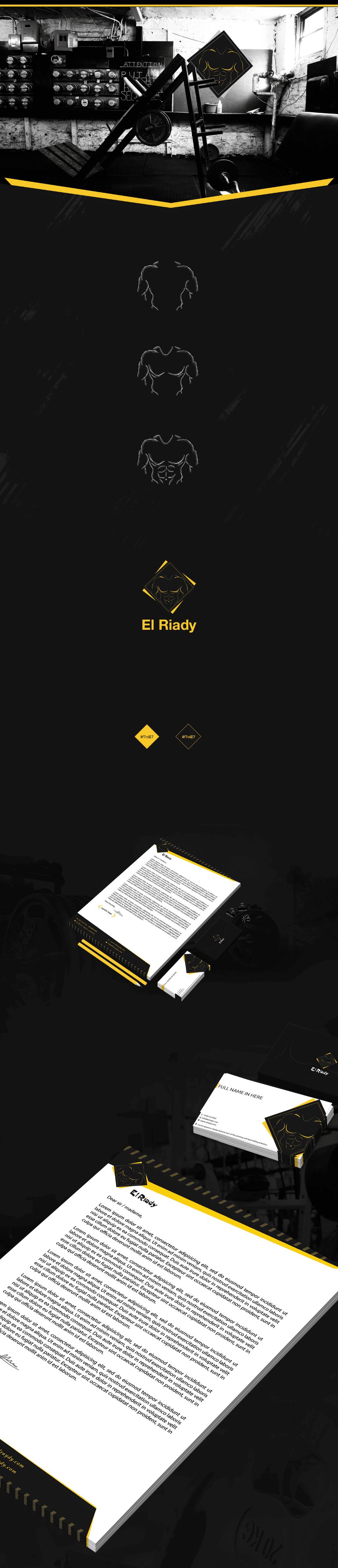 شعار وهوية و تصميم موقع الرياضى للمستلزمات الرياضية 2