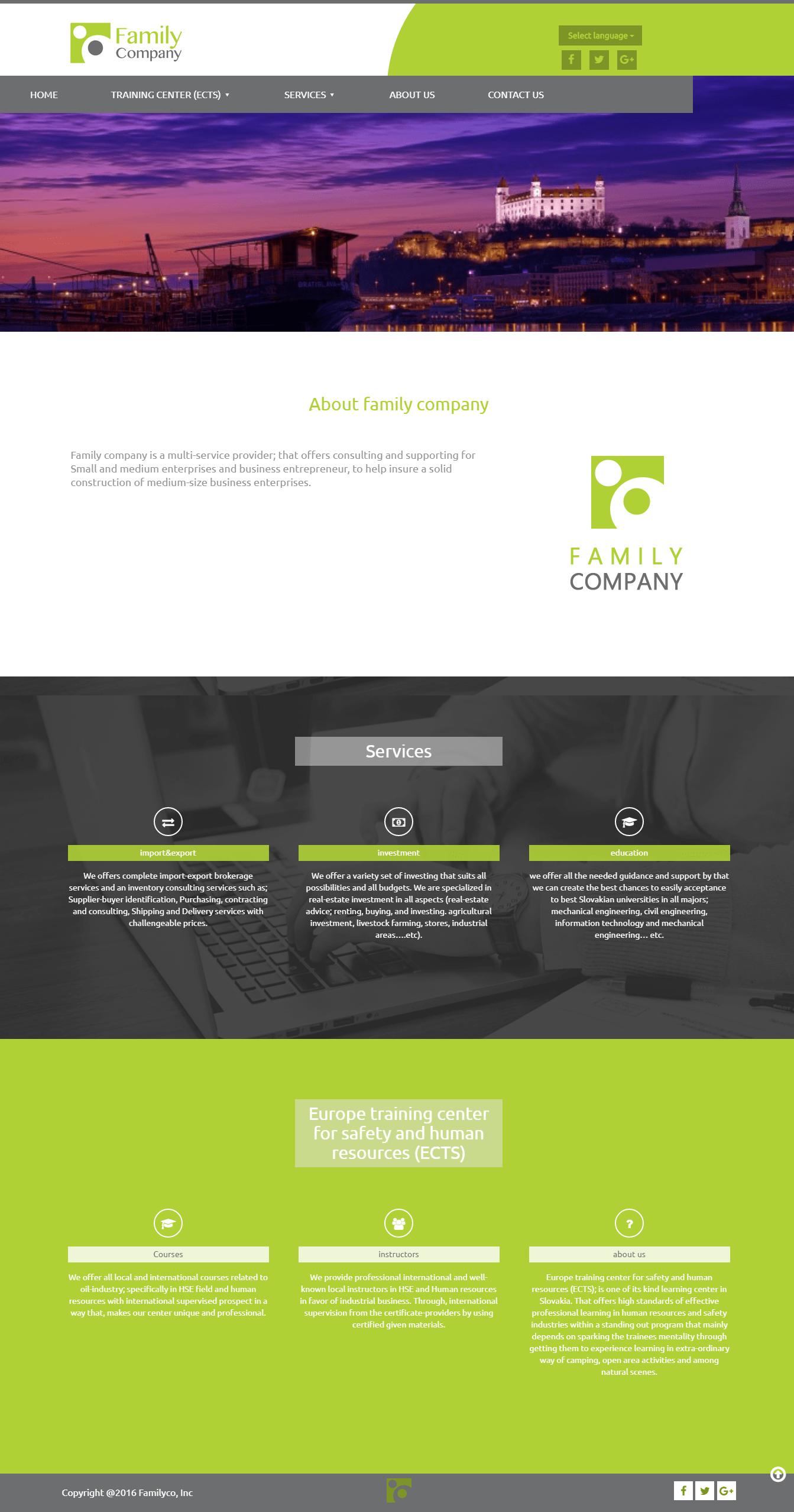 "موقع شركة ""Family Company Business Service"" 2"